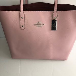 Coach Bags - Authentic Coach Carnation/Silver Town Tote NWT